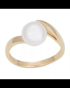 Nordahl Andersen 14 Karat Guld Ring med Ferskvandsperle