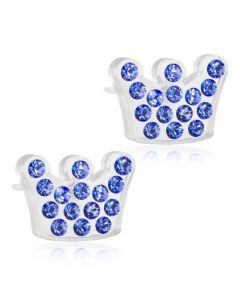 Blomdahl Princess Medicinsk Plastik Ørestikker med Swarovski Krystaller