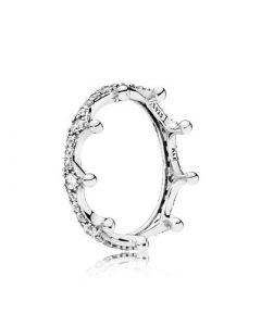 Pandora Enchanted Crown Sterling Sølv Ring 197087CZ