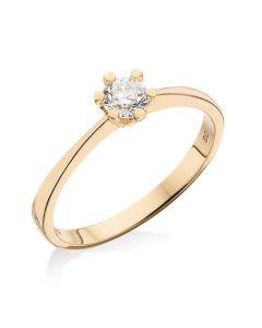Scrouples Ring i 8 Karat Guld med Brillant 0,10 Carat W/P1