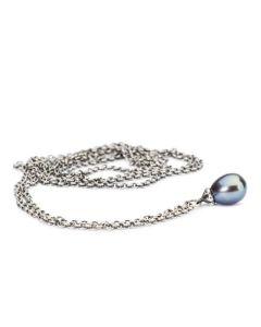 Troldekugler Fantasi Sterling Sølv Halskæde med Peacock Perle