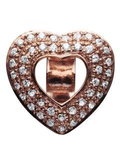 Story Open Heart Rosaforgyldt Sølv Charm fra Kranz & Ziegler