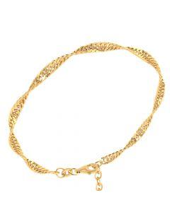 Singapore 8 Karat Guld Armbånd fra Smykkekæden