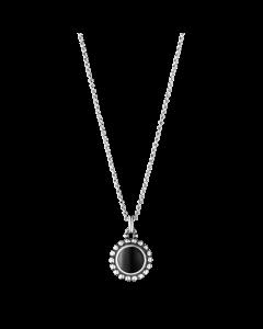 Georg Jensen Moonlight Blossom Halskæde i Sterling Sølv med Sort Agat 3536261