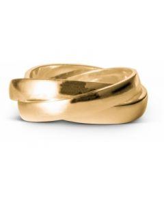 Enamel Trinity Ring i Forgyldt Sølv R41G