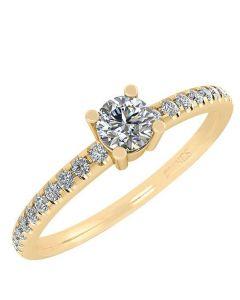 Smykkekæden 14 Karat Guld Ring med Diamanter 50-00339-1850