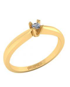 Henrik Ørsnes Design 14 Karat Guld Ring med Diamant 0,05 Carat W/SI