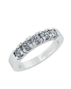 Smykkekæden Alliance Ring i 14 Karat Hvidguld med Diamanter 0,25 Carat TW/SI
