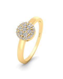 Smykkekæden Ring i 14 Karat Guld med Diamanter 0,125 Carat W/SI