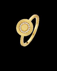 Iris Forgyldt Sølv Ring fra Spirit Icons S53062