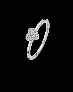 Spirit Icons Glowing Heart Ring i Rosaforgyldt Sølv