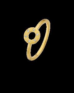 Spirit Icons Wheel Ring i Forgyldt Sølv S53022-56