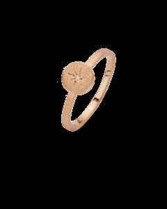 Spirit Icons North Star Rosaforgyldt Sølv Ring med Brillant 0,01 Carat