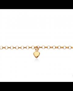 8 Karat Guld Børnearmbånd fra Scrouples med Hjerter