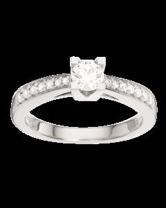 Kleopatra Queen Ring 0,43 ct. i 14 Karat Hvidguld fra Scrouples