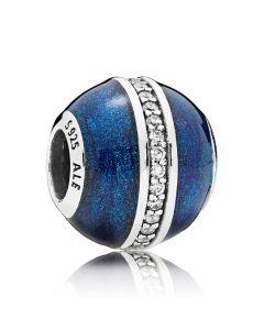 Midnight Blue Orbit Sølv Vedhæng fra Pandora 796377EN63