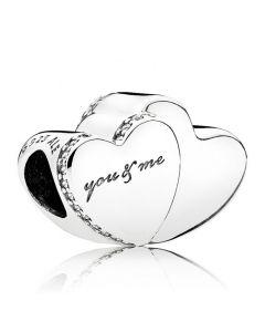 Pandora Sølv Charm Two Heart 796560CZ
