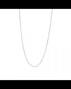 Line Rhodineret Sølv Halskæde fra Nordahl Andersen