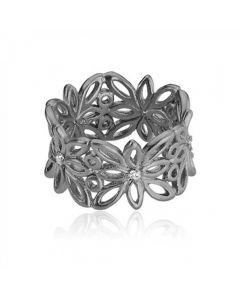 Blossom Rhodineret Sølv Ring fra Izabel Camille A4019SSR
