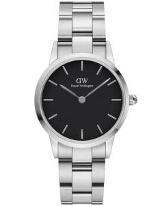 Daniel Wellington Iconic Link 28 MM Silver Black Dameur ADW00100208