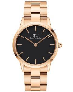 Daniel Wellington 36 MM Iconic Link Rose Black Ur til Dame & Herre ADW00100210