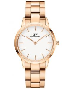 32 MM Iconic Link Rose White Ur til Dame Fra Daniel Wellington ADW00100211