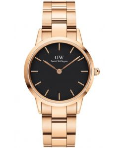 Daniel Wellington 32 MM Iconic Link Rose Black ADW00100212 Dameur