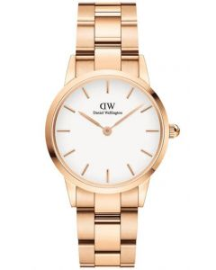 Daniel Wellington Iconic Link 28 MM Rose White ADW00100213 Dameur