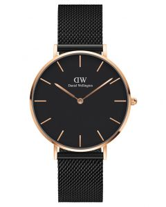 Daniel Wellington 36 MM Petite Ashfield Rosegold Black Ur ADW00100307
