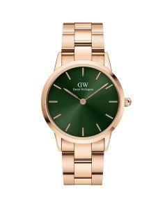 ADW00100420 fra Daniel Wellington - Lækkert Dameur 32 MM Iconic Emerald Rosa