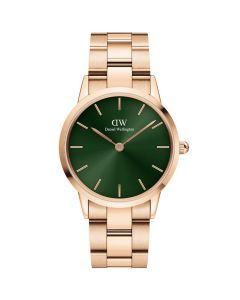 ADW00100421 fra Daniel Wellington - Fint Dameur 28 MM Iconic Emerald Rose