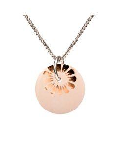 Bloom Nude Bronze Sterling Sølv Halskæde fra Scherning med Porcelæn
