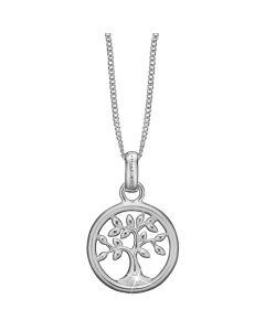 Christina Watches Tree Of Life Sterling Sølv Vedhæng med Laboratoriefremstillet Diamant