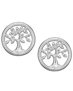 Tree Of Life Sterling Sølv Ørestikker fra Christina Watches med Laboratoriefremstillet Diamant