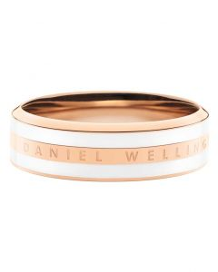 Satin White Rosa Guld Double Ring fra Daniel Wellington