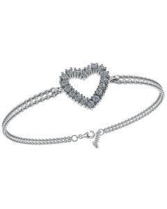 Smykkekæden Hjerte Sterling Sølv Armbånd DML0180S