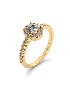 Henrik Ørsnes Design 14 Karat Guld Ring med Diamanter 0,51 Carat W/SI