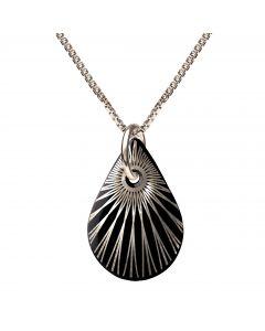 Splash Teardrop Sterling Sølv Halskæde fra Scherning med Porcelæn