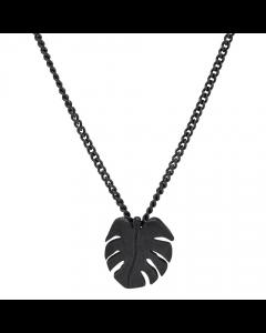Nordahl Andersen Leaf Halskæde i Oxideret Sølv 825721-2