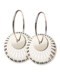 Scherning Splash Duo Silver Sterling Sølv Øreringe