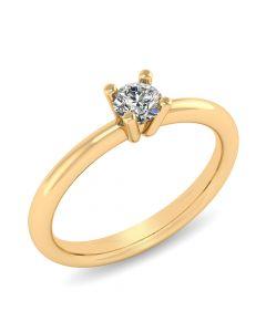 Henrik Ørsnes Design 14 Karat Guld Ring med Brillant 0,35 Carat W/VVS
