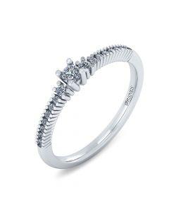Smykkekæden Ring i 14 Karat Hvidguld med Diamanter 0,272 Carat W/SI