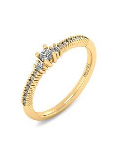 Smykkekæden 14 Karat Guld Ring med Brillanter 0,272 Carat W/SI