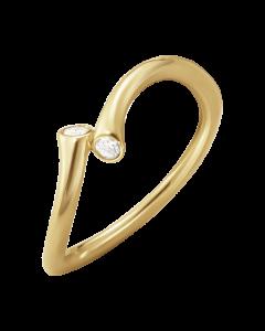 Georg Jensen Magic 18 Karat Guld Ring med Diamanter