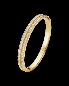 Georg Jensen Halo Armring i 18 Karat Guld med Diamanter 1,72 Carat TW/VS