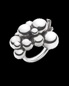 Georg Jensen Moonlight Grapes Stor Sterling Sølv Ring