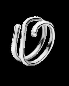 Georg Jensen Magic Ring i 18 Karat Hvidguld med Brillanter 0,04 Carat TW/VS