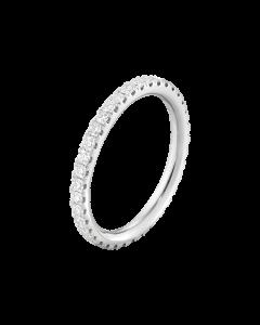 Georg Jensen Aurora 18 Karat Hvidguld Ring med Brillanter 0,24 Carat TW/VS