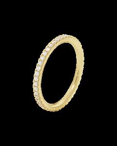 Aurora 18 Karat Guld Ring fra Georg Jensen med Brillanter 0,25 Carat TW/VS
