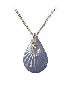 Splash Lavender Teardrop Sterling Sølv Halskæde fra Scherning med Porcelæn